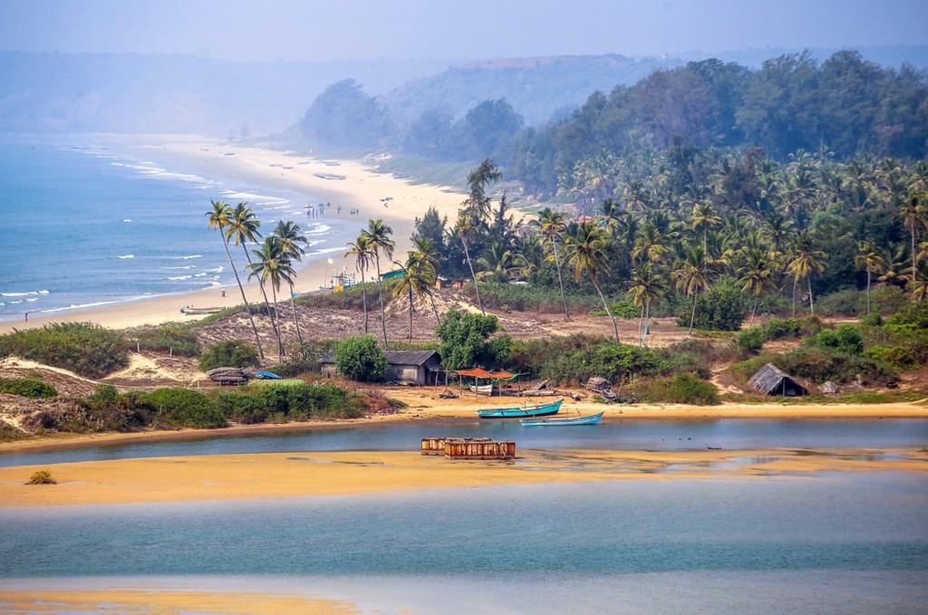 Tropical beach in Goa, India