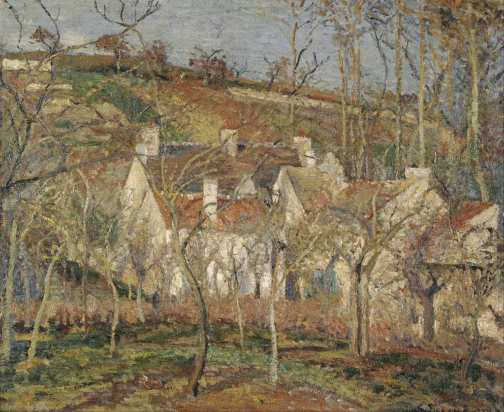 Camille Pissarro, Red Roofs, corner of a village, winter, 1877