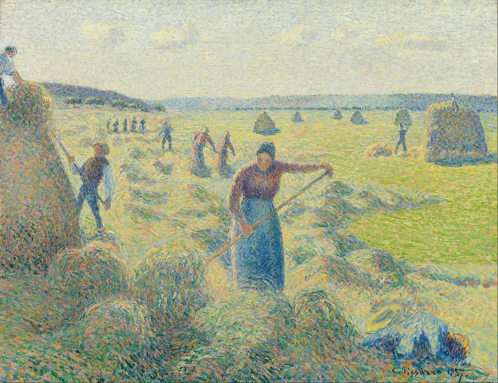 Camille Pissarro, Haymaking, Éragny, 1887