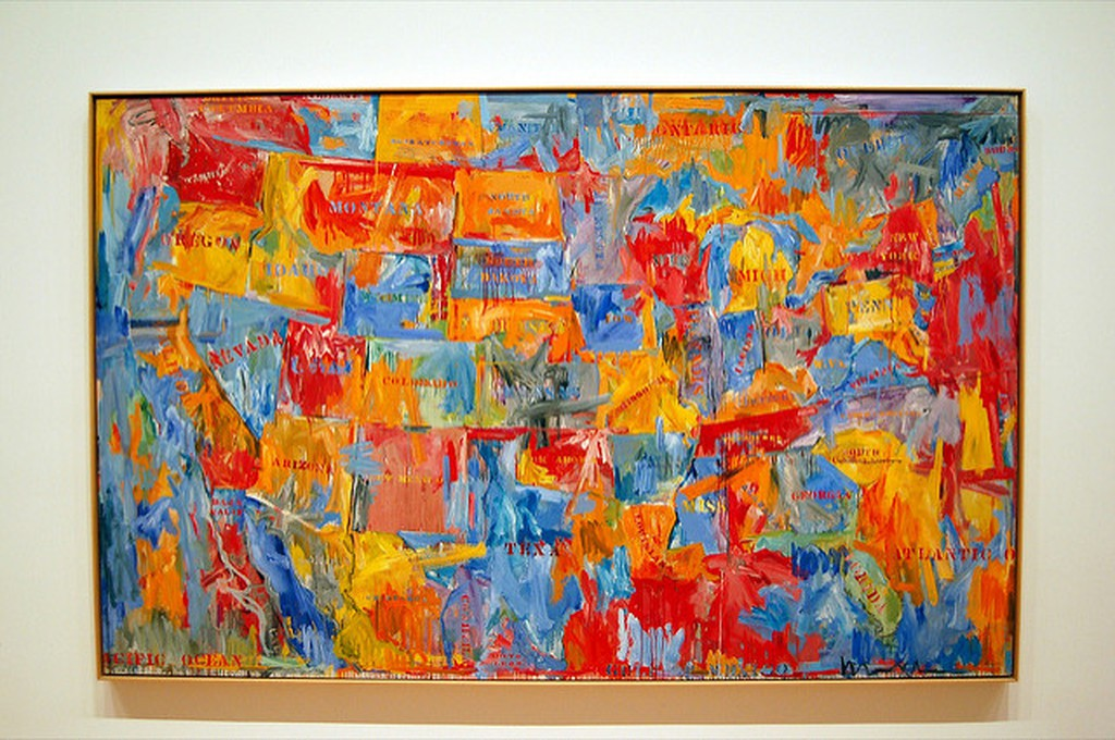 'Map' by Jasper Johns | © Dano/Flickr