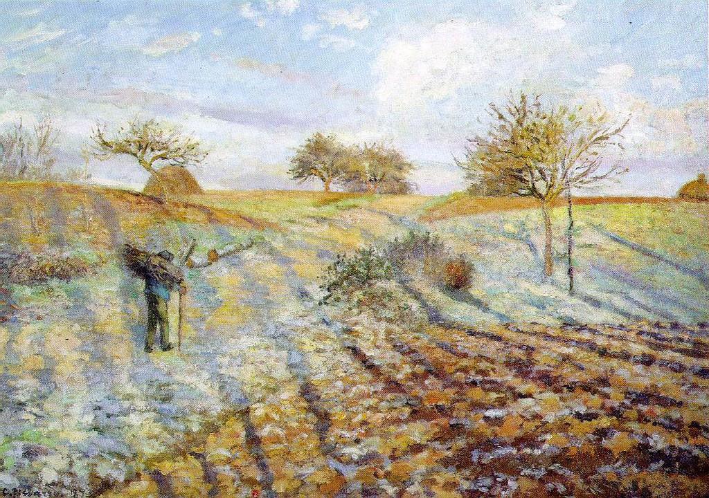 Camille Pissarro, Hoarfrost, 1873