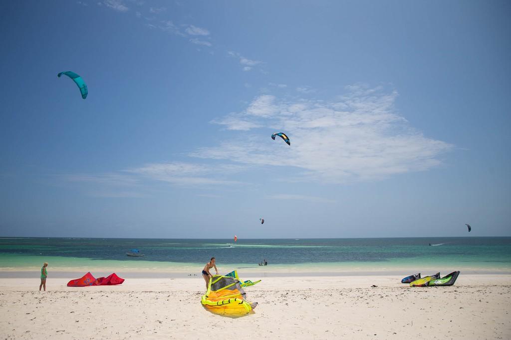 Kite surfers at Watamu beach