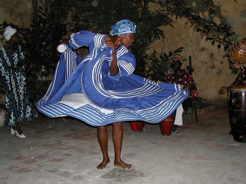 Traditional ritual dance of Afro-Cuban religion