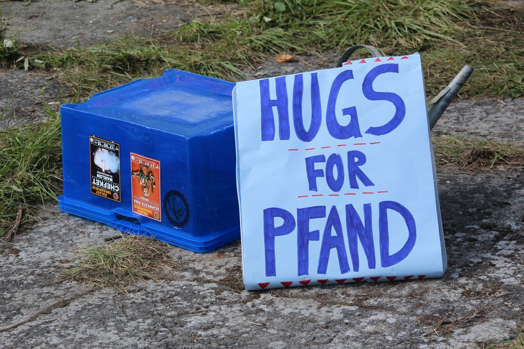 Hugs for Pfand meaning refundable bottles