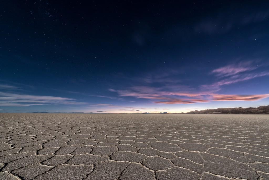 Bolivia's Uyuni Salt Flats at night
