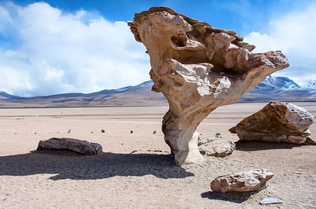 Rock formation (Arbol de Piedra) in Uyuni, Bolivia
