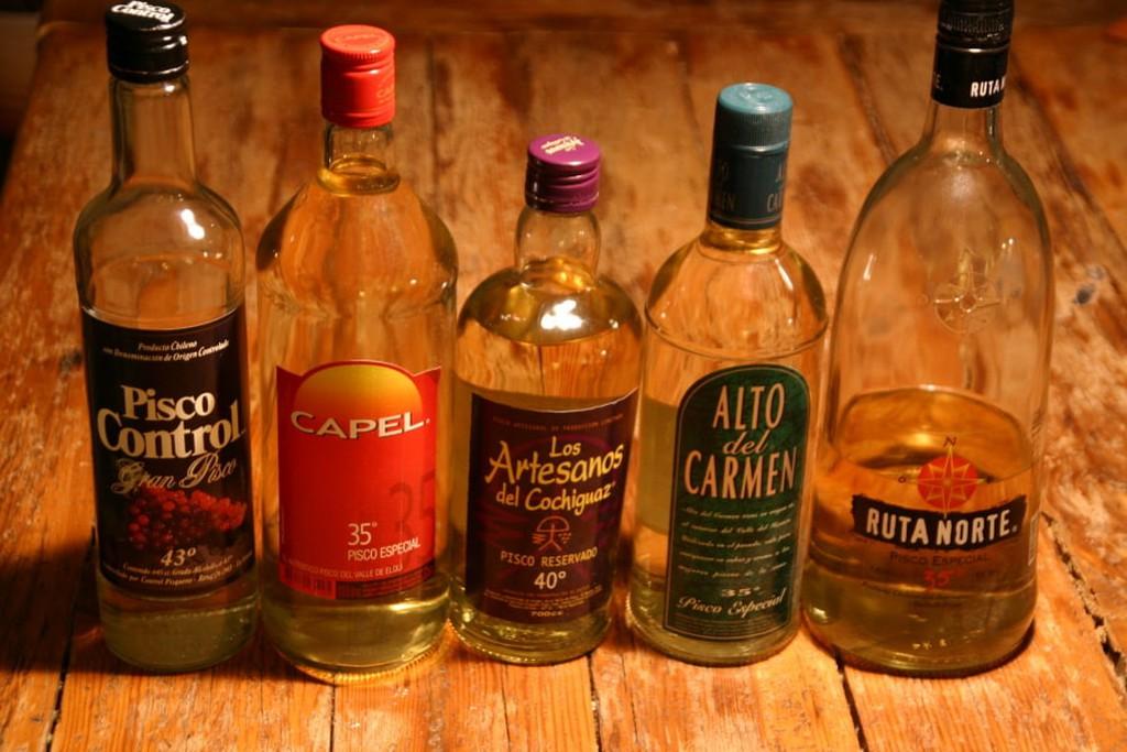 Pisco-garrafas-Chile