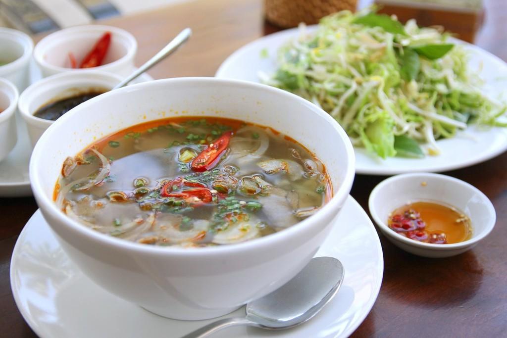 A delicious bowl of Bun Bo Hue for $1