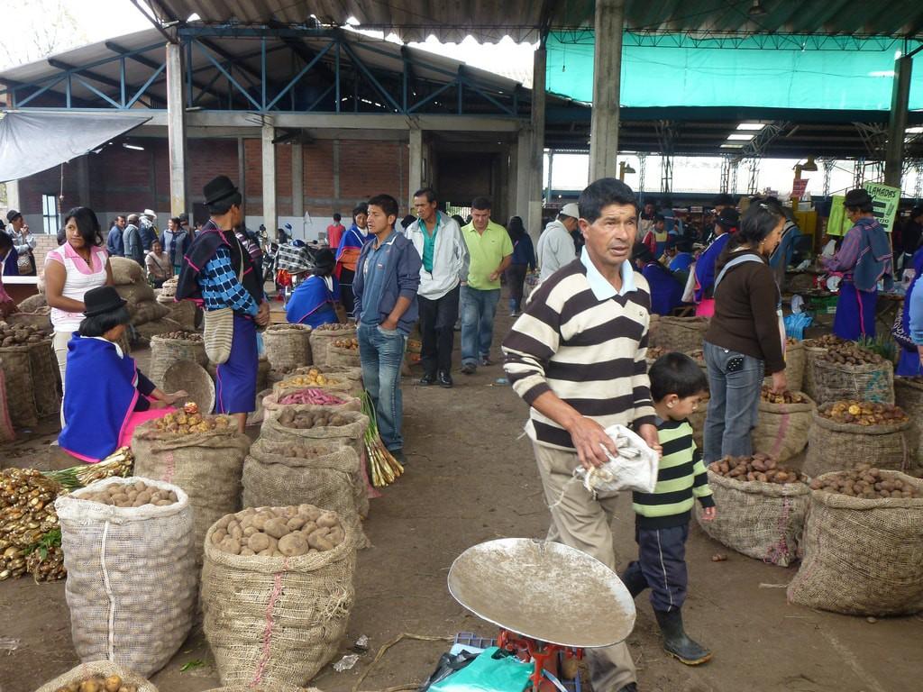 The Guambiano market in Silvia