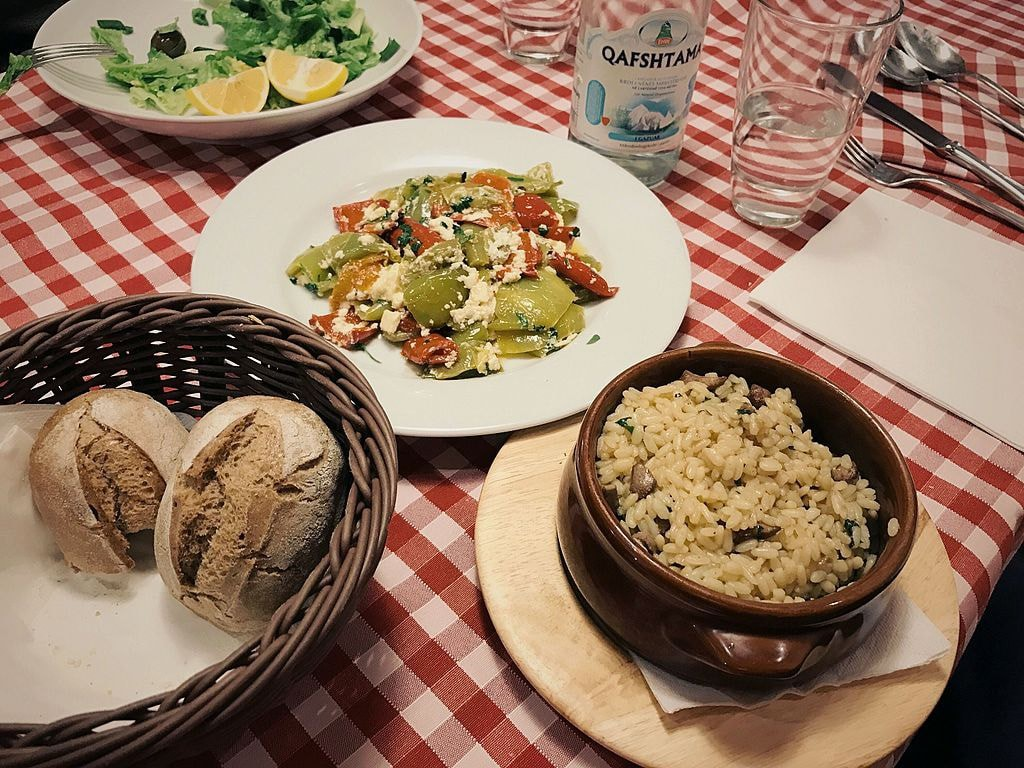 Typical Albanian food is made with the freshest seasonal products