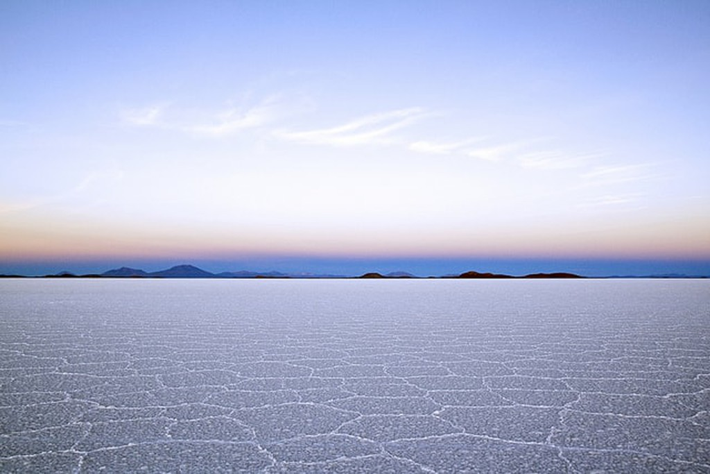 Salt flats at sunrise