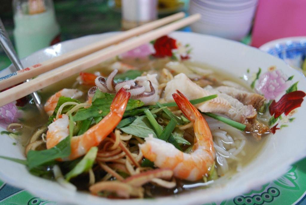 A wonderful bowl of Vietnamese bún mắm