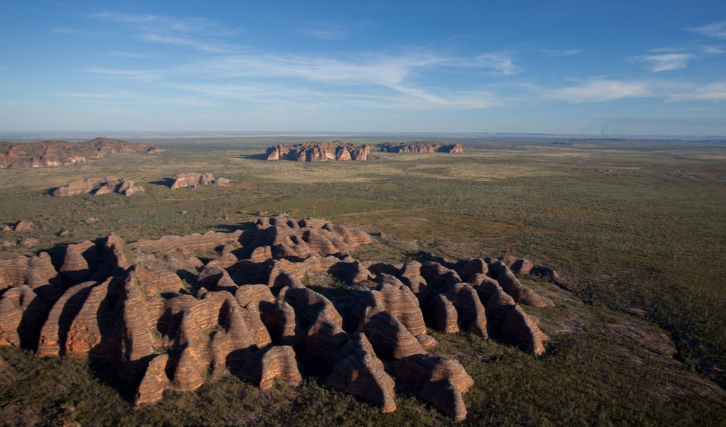 Aerial shot of the Bungle Bungles