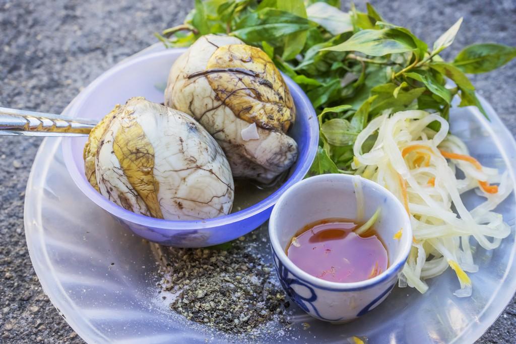 Balut (boiled developing duck embryo) in Hoi An, Vietnam