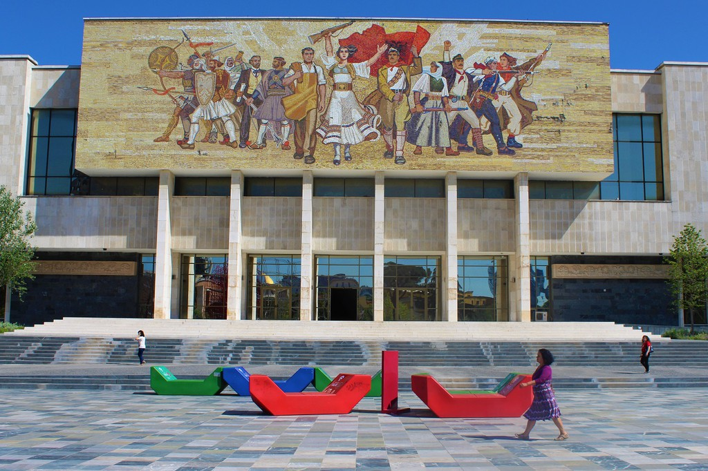 Skanderbeg Square is the heart of Tirana