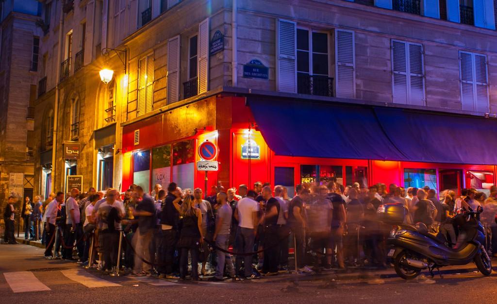 Le Cox Bar in Le Marais District, Paris.