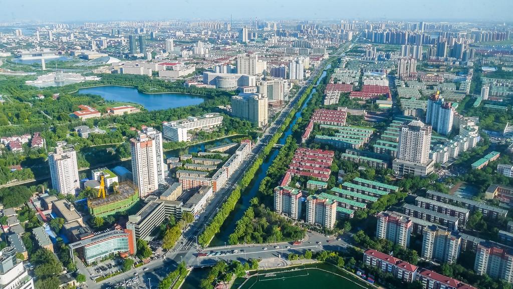 Tianjin, junto al río Weijin y la carretera Zijinshan