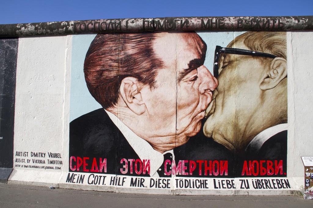 East Side Gallery, graffiti en una de las secciones del muro de Berlín