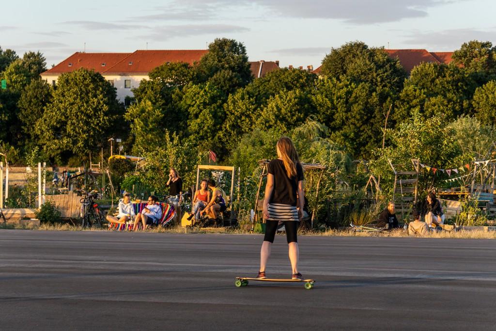 Tempelhofer Feld, una antigua zona del aeropuerto