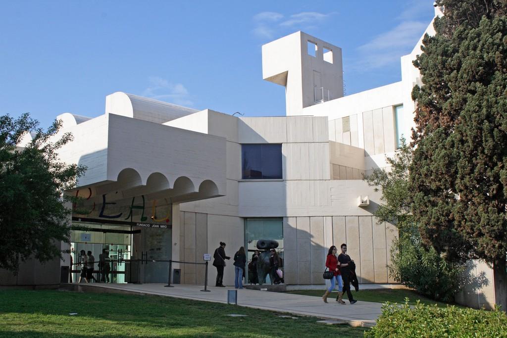 O Fundacio Joan Miro (Museu Miro), no bairro de Montjuic, em Barcelona, Espanha.