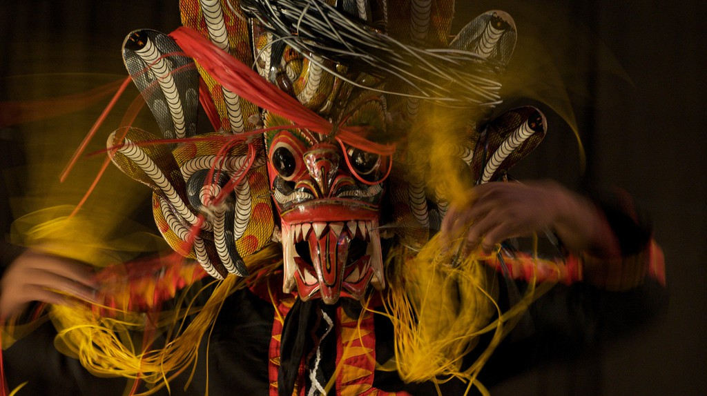 Mask dance   © Jon Connell/Flickr