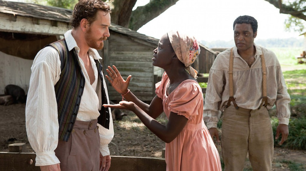 Michael Fassbender, Lupita Nyong'o, and Chiwetel Ejiofor in '12 Years a Slave' | Fox Searchlight Pictures