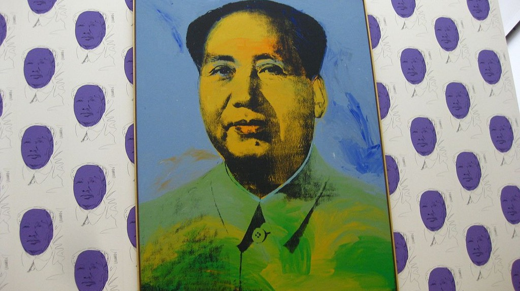 Warhol's massive portrait of Mao (1973) at the Hamburger Bahnhof