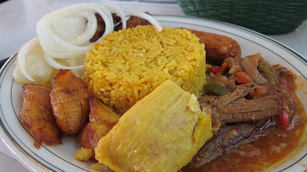 Cuban samples plate at Versailles Restaurant