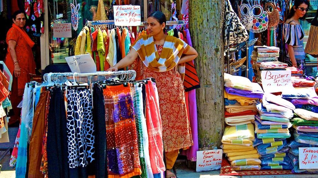 Sidewalk Sale in Toronto's Little India   © Don Gunn / Flickr