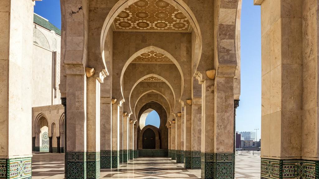 Casablanca, Morocco. Mosque Hassan II arcade gallery   © Vlada Photo/Shutterstock
