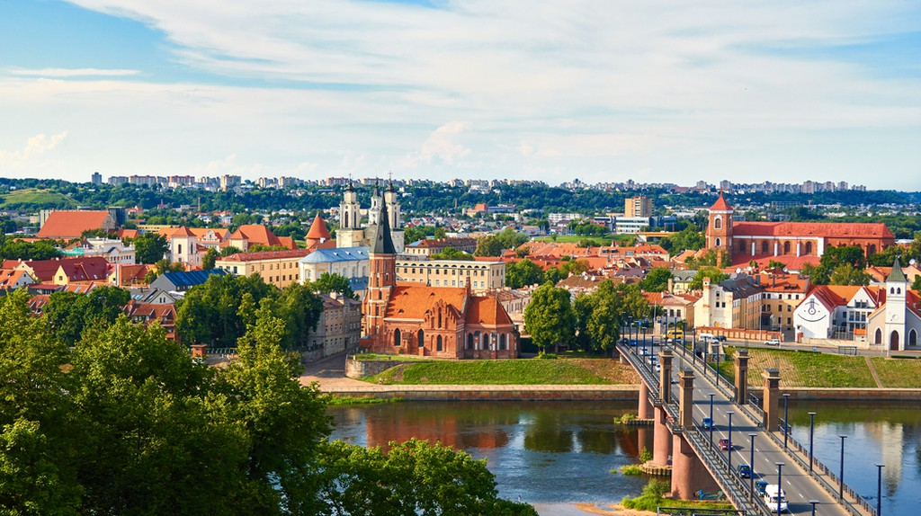 Panorama of Kaunas from Aleksotas hill, Lithuania    © Raimundas/Shutterstock