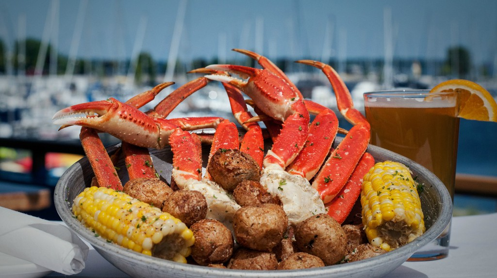 Snow crab legs at Dockers Fish House   Courtesy Dockers Fish House