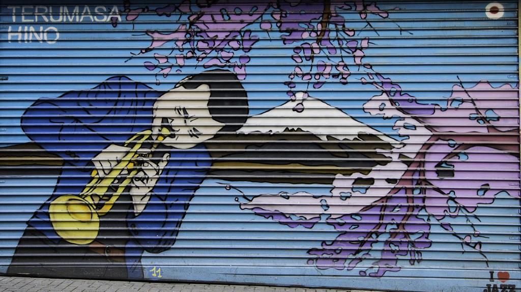 Shop front mural of Terumasa Hino | © Antonio Ponte/Flickr