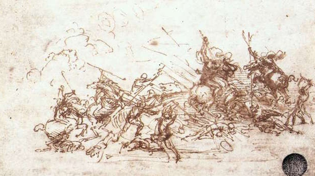 Leonardo da Vinci, The Battle of Anghiari,Study of battles on horseback and on foot, 1503-04 | © Leonardo da Vinci/WikiCommons