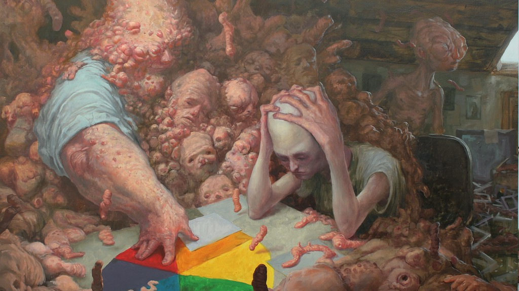 Detail of one of Enric Sant's oil paintings | Courtesy of Enric Sant