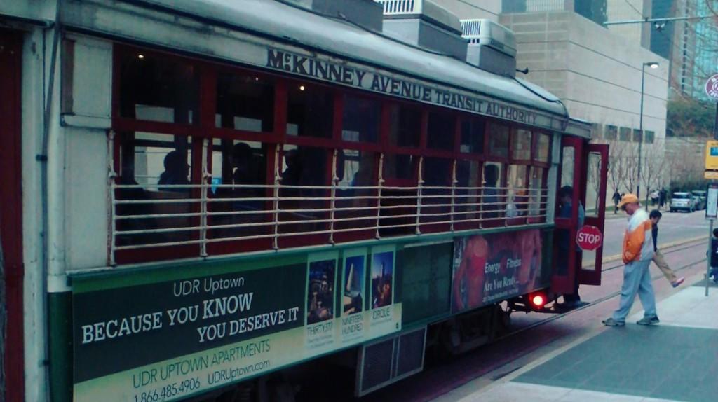 McKinney Trolley in Front of DMA   © M. Watson