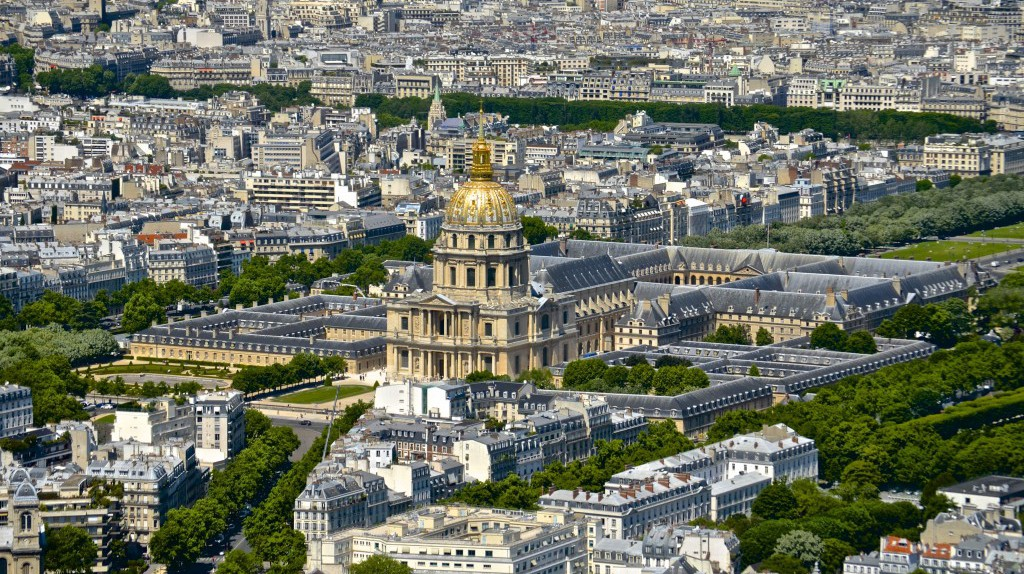 View of Les Invalides from Montparnasse Tower | © David McSpadden/Flickr