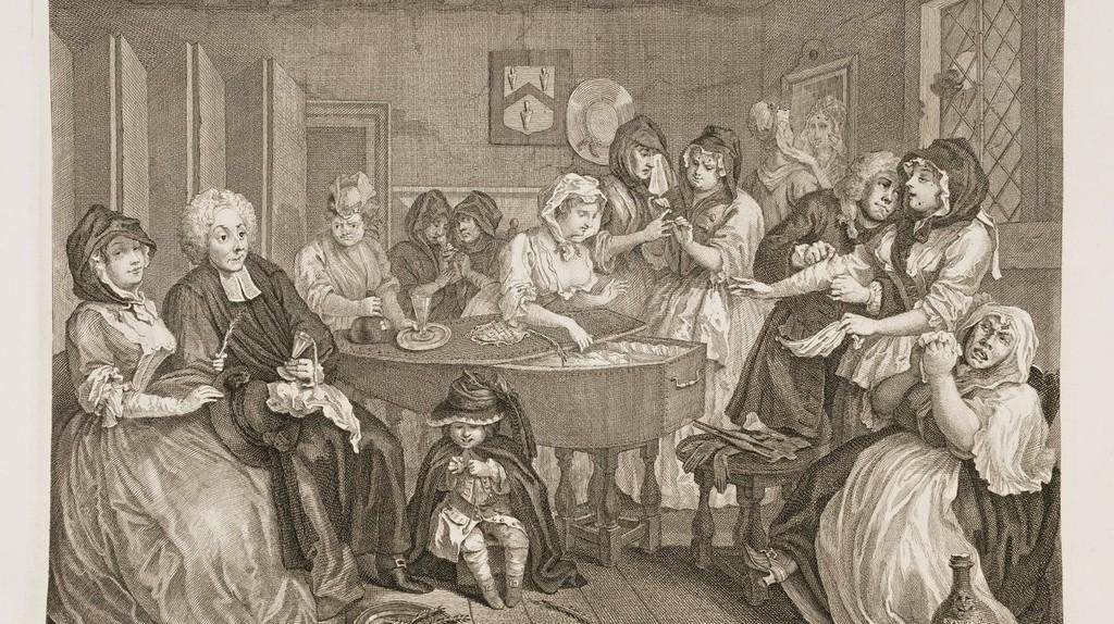 Hogarth, A Harlot's Progress, Plate 6, 313 x 385 mm, British Museum, 1732 | © Yomangani/WikiCommons