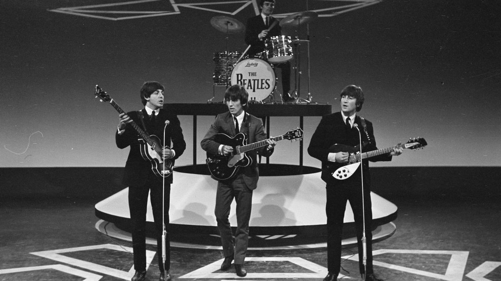 The Beatles playing with Jimmie Nicol in place of Starr when he was hospitalised with tonsilitis | ©  Janericloebe/WikiCommons