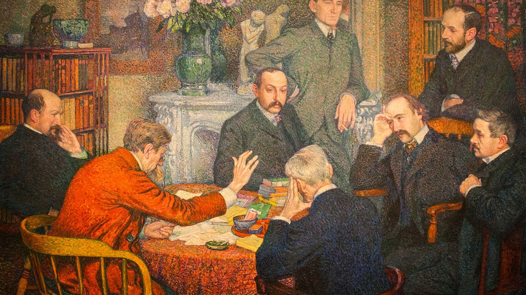 The reading by Emile Verhaeren by Théo van Rysselberghe, 1903/©WikiCommons