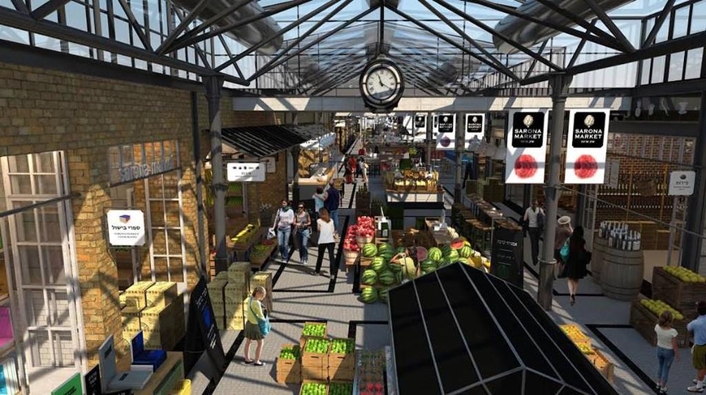 Indoor Sarona Market | Courtesy of Sarona Market