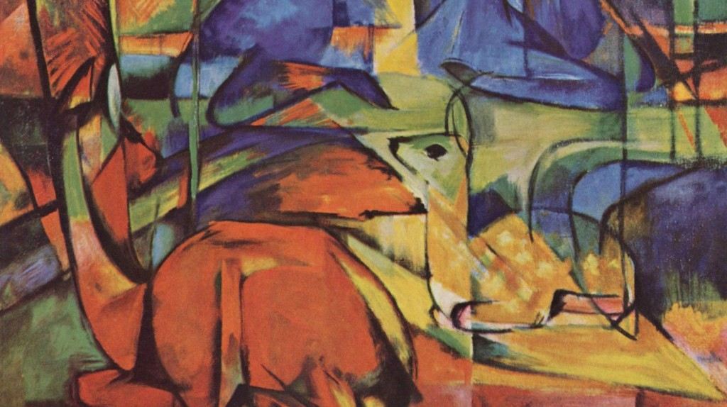 Rehe im Walde (Deer in Woods), 1914, by Franz Marc   © The Yorck Project / WikiCommons