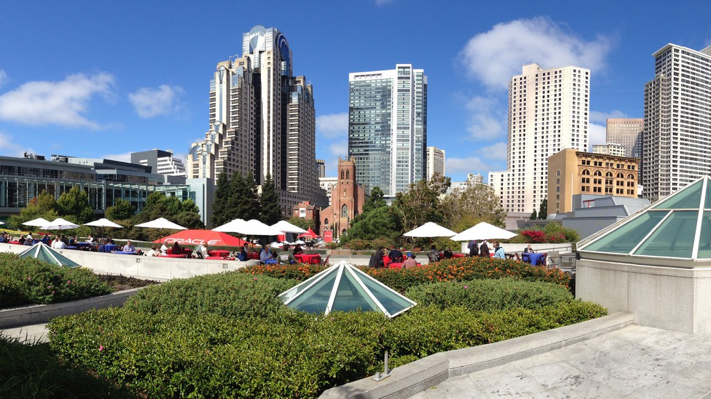 View of Yerba Buena Gardens across from B Restaurant & Bar © David Sanabria/Flickr
