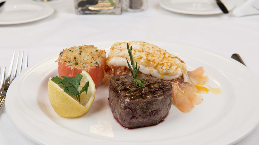 Surf & Turf with Lobster at William B's | Courtesy of William B's Steakhouse