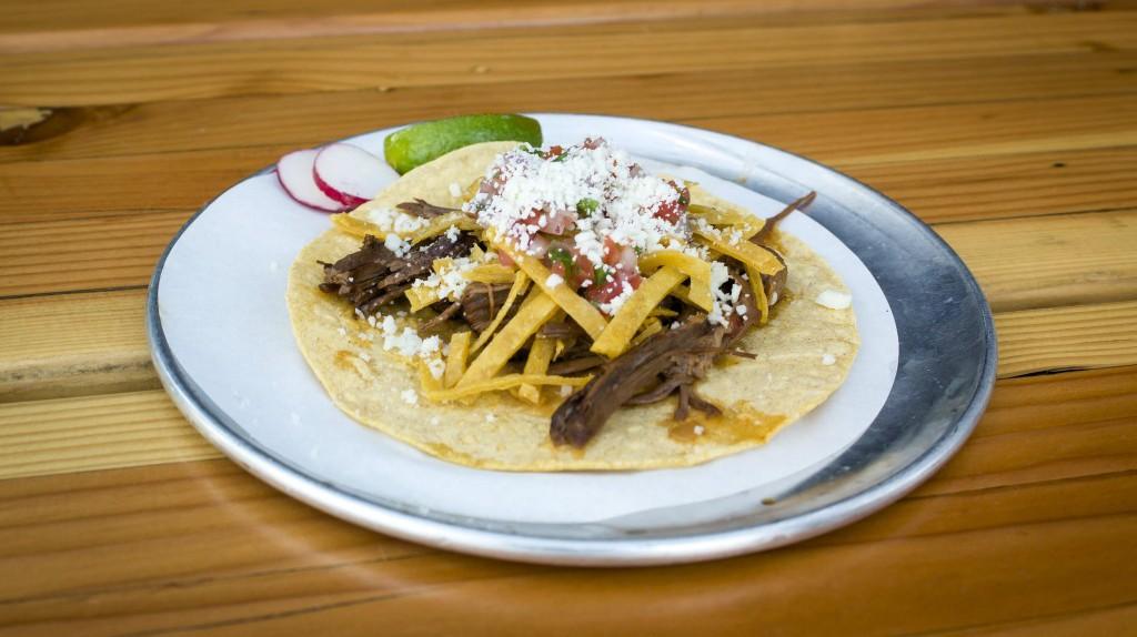 Trejo's Tacos Pulled Beef Brisket Taco | © Derrick Strickland