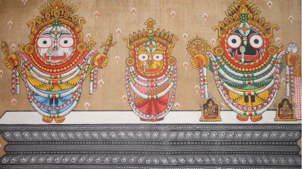 Pattachitra of the dieties of Puri Jagannath Temple © WikiCommons