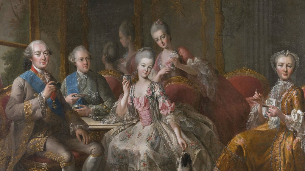 The Duke of Penthièvre and his family c.1768, oil on canvas. On loan from the Palace of Versailles | Courtesy of Château de Versailles, Dist. RMN-Grand Palais / Christophe Fouin