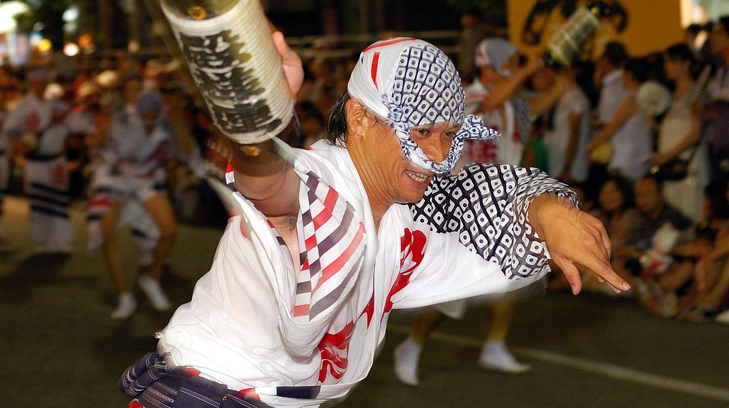 Exuberant Awa Odori dancer | © Rosino/WikiCommons