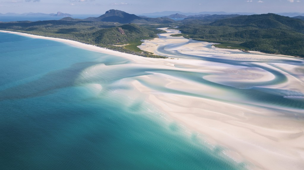 The scenic Whitsunday Islands