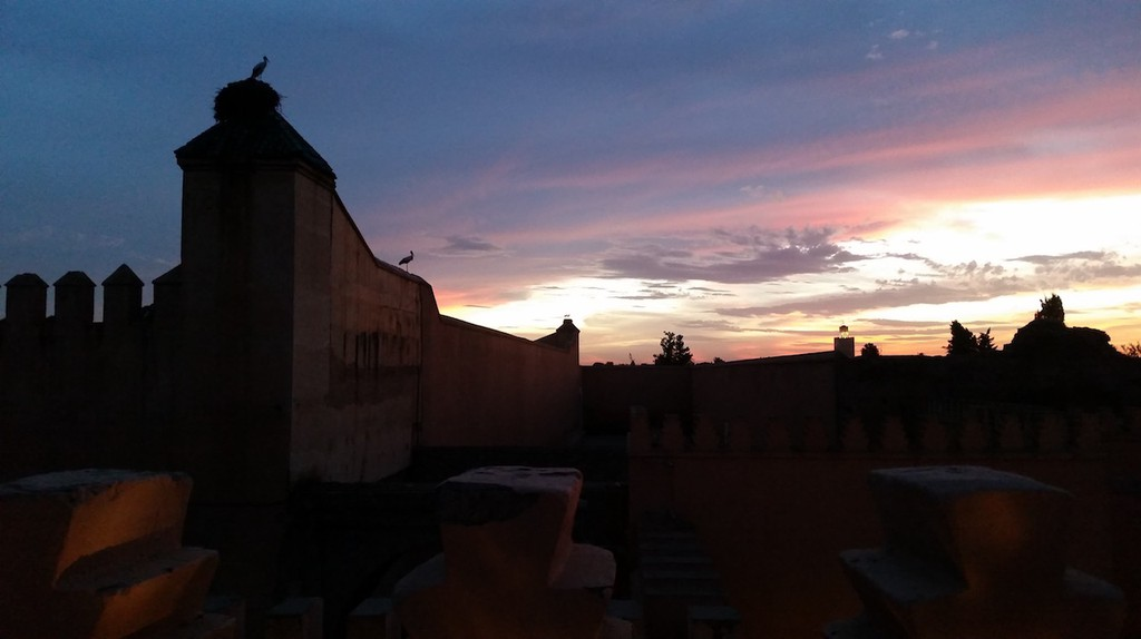 Sunset over the Kasbah in Marrakech Copyright Mandy Sinclair